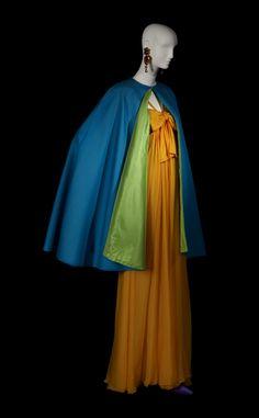 Evening ensemble (dress and cape) | Yves Saint Laurent | Haute Couture Spring 2002 | Madrid exhibition, 2012