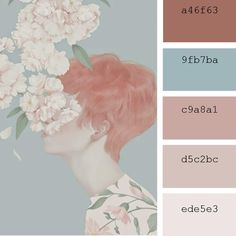 Hsiao-Ron Cheng illustration color palettes