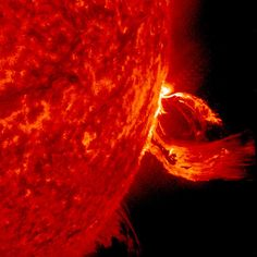 Coronal Mass Ejection This huge ejection took place over several hours between June 17-18 2015: Solar Dynamics Observatory, NASA
