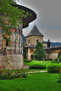Sucevita Monastery, Romania (not a Castle but I like it) Places Around The World, Oh The Places You'll Go, Places To Travel, Places To Visit, Around The Worlds, Wonderful Places, Beautiful Places, Saint Marin, Visit Romania