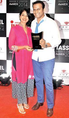 Neha and Siddharth Kanan at The Tassel Awards 2014. #Style #Page3 #Fashion #Beauty
