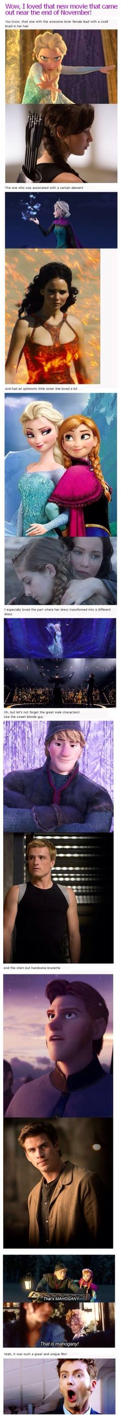this is amazing how similar hunger games and frozen are