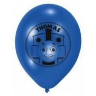 """Thomas the Tank Printed """"Ride the Rails"""" Helium Quality Latex Balloon. Disney Balloons, Helium Balloons, Foil Balloons, Latex Balloons, Thomas The Train Birthday Party, Trains Birthday Party, Wholesale Party Supplies, Kids Party Supplies, Wedding Balloons"""