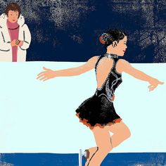 鈴木明子 Akiko Suzuki #figureskating #skater #athlete #iceskating #sports #japan #tokyo #olympic #illustration #illustrator #イラストレーション #イラスト