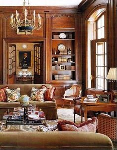 Library - Doheney Mansion showcase House - Interior Design David Phoenix & Rose Tarlow