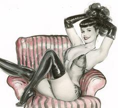 erosart:    Olivia De Berardinis Pinup Art