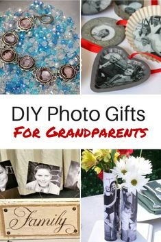 Super Gifts Ideas For Grandparents Diy Photo Ideas Grandparent Photo, Grandparent Gifts, Easy Homemade Gifts, Diy Gifts, Picture Gifts, Photo Gifts, Christmas Stocking Stuffers, Christmas Gifts, Homemade Christmas