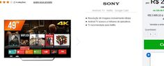 "Smart TV LED 49"" Sony 4K 4 HDMI 3 USB Wi-Fi Conversor Digital KD-49X7005D << R$ 269910 >>"