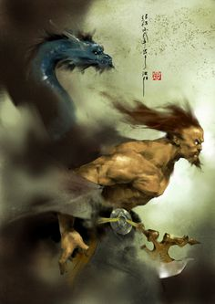 Archaian deity of china by ~zhanglu on deviantART