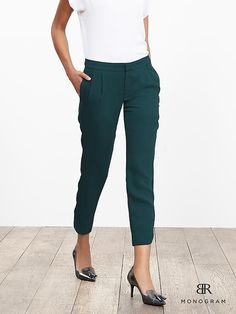BR Monogram Pleated Soft Pant- these are perfect.