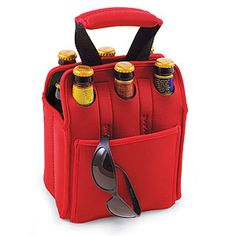 Insulated Six-Pack Holder - perfect for transporting your bottles and keeping them cool.