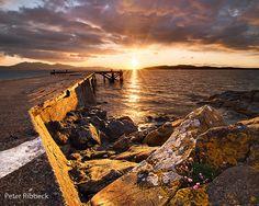 Portencross Pier 14-4-12 Cool Piercings, Titanic, It Cast, Celestial, Sunset, Water, Outdoor, Gripe Water, Outdoors