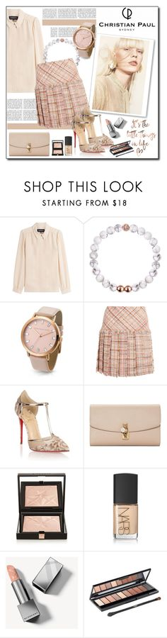 """Untitled #3517"" by polybaby ❤ liked on Polyvore featuring Vanessa Seward, Miu Miu, Christian Louboutin, Dolce&Gabbana, Givenchy, NARS Cosmetics, Burberry, L'Oréal Paris and christianpaul"