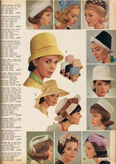 """Clothes Gotta love that vintage headwear. So classic! - In June last year, I wrote about """"The Jazz Age: American Style in the an exhibition I saw in New York City. Among the magnificent jewels on display was… 1960s Costumes, Vintage Costumes, 1960s Outfits, Vintage Outfits, 1960s Fashion, Vintage Fashion, Idda Van Munster, Wearing A Hat, Mode Vintage"""
