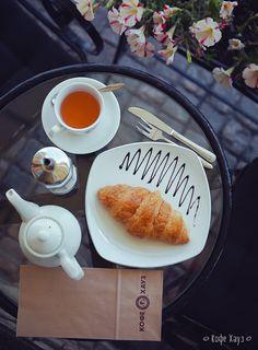 Мягкий круассан и ароматный чай – Завтрак за 99 рублей в Кофе Хауз #москва #еда #кафе #кофехауз