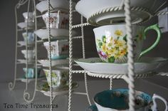 From my blog; Something Special - Tea Cup Display