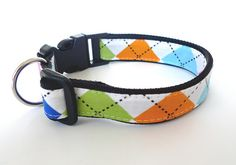 Collar Argyle colorful by usagiteam on Etsy, $19.00