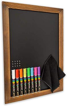ERASER Blackboard Rubber Drawing Colouring Art SET OF 12 COLOURED CHALK STICKS