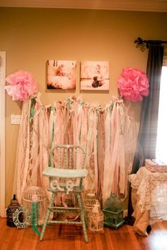 I think this would be cool to do in a door entryway instead of beads have the ribbons hanging down.  I think I'm gonna to this in my office/bedroom door since I want to do my bedroom as an english garden/ shabby chic sorta thing and I love ribbon