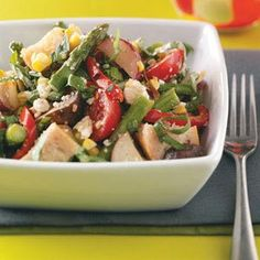 Roasted Vegetable Salad Recipe from Taste of Home