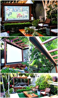 How to Build an Outdoor Theater - 110 DIY Backyard Ideas to Try Out This Spring & Summer - DIY & Crafts