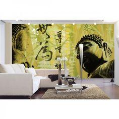 Bringe mit Buddha neue Energie in dein Zuhause. #BuddhaGlow #Fototapete #Wadeco // http://www.wadeco.de/buddha-glow-fototapete-wandtattoo.html