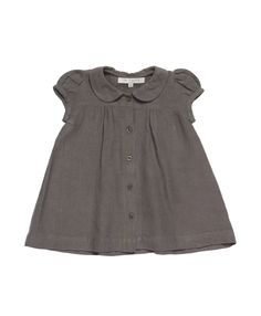 Buckie Baby Dress, Grey Linen Gauze