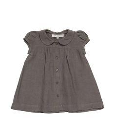 Buckie Baby Dress, Grey Linen Gauze
