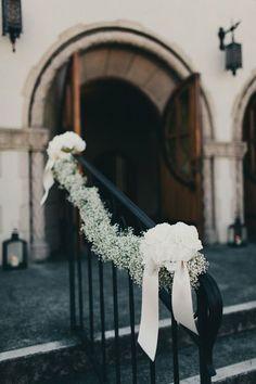 Kirchendekoration, Hochzeit, Geländer Verzieren, Schleierkraut