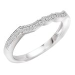 The a universally accepted standard to diamond grading. Learn about the cut, color, clarity, carat weight. Curved Wedding Band, Wedding Bands, Diamond Bands, Unique Rings, Diamond Engagement Rings, Bracelets, Jewelry, Bangle Bracelets, Jewellery Making