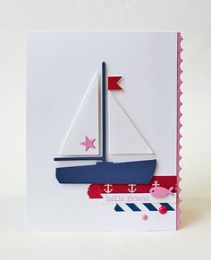 Color Throwdown #394 | Ink About Me | Paper Smooches Sailboat | Amy Rohl