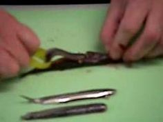 filets d'anchois - YouTube Filets, Carving, Tableware, Canning, Dinnerware, Wood Carvings, Dishes, Sculpting, Place Settings