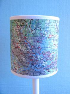 DIY: Map Lamp