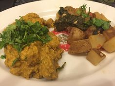 Butter Chick'n Seitan and Potatoes and Greens Stir-Fry from Vegan Richa's Indian Kitchen by Richa Hingle