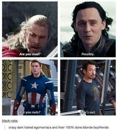 Haha Thor and Loki & Steve and Tony