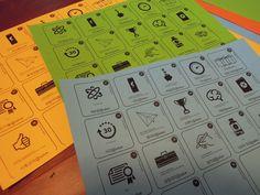 비즈니스/고객개발 및 모델링을 위한 pictogram card