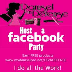 Book a ONLINE Damsel Party with Diva Defense Damsel in Defense Pro for all your #Selfdefense products