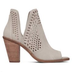 dbddd7504c9d Jessica Simpson Shoes Cherrell Peep Toe Booties in Warm Stone Jessica  Simpson Shoes
