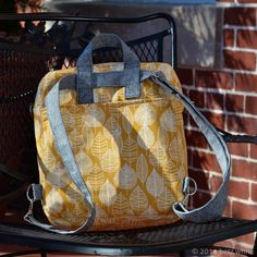 Introducing: The Jet Pack Sewing Pattern! - Betz White convertible bag/backpack