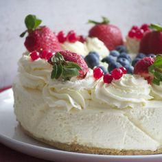No -bake, classic cheesecake.