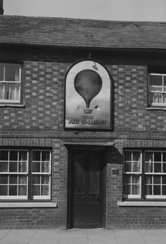 John Piper 'Photograph of The Air Balloon in Abingdon, Berkshire', © The Piper Estate Air Balloon, Balloons, John Piper, 1930s, Archive, Photograph, Scene, Memories, Architecture