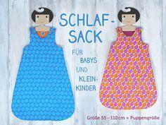 Pattydoo: Babyschlafsack nähen; Kostenloses Schnittmuster für Neugeborene und Puppen unten auf der Seite
