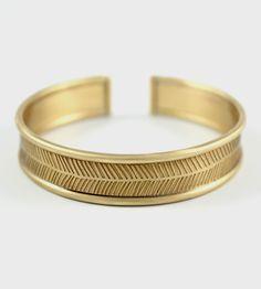 Herringbone Brass Bangle Bracelet by Amanda Hagerman Jewelry on Scoutmob Shoppe