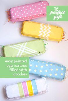 Pintar y decorar cartones de huevos