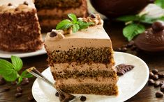 Download wallpapers Chocolate cake, desserts, cakes, festive cake, chocolate