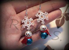 DIY snowman earrings :) tutorial