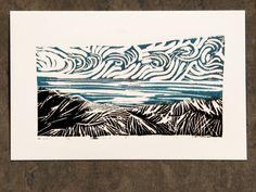Linocut Prints, Art Prints, Fish Print, Hand Carved, I Shop, Handmade Items, Carving, Tapestry, Stamp
