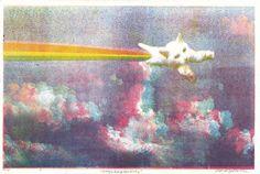 """Magical Rainbow Kitty"" CMYK Limited Edition 3D Lithograph Art Print $24.00"