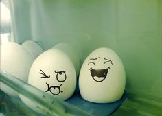 I'm going to do this to all of the eggs tonight then wait and see how long it takes J to notice ;)
