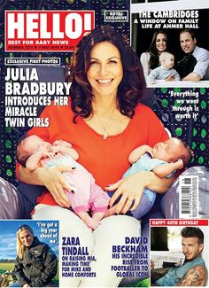 Issue 1377: Julia Bradbury introduces her miracle twin girls